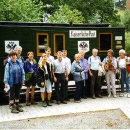 Erlebnisreiche Wanderung durch das Erzgebirge - rittersgrün-hist-eisenbahnwagen