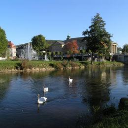 Gepäcklos wandern entlang des Hochrhöner Wanderweges durch Bayern Hessen und Thüringen - badkissingen