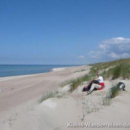 Memel und Kurische Nehrung, am Ostseestrand