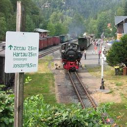 Oberlausitzer Bergweg, Schmalspurbahnhof Oybin
