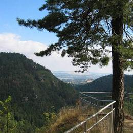 Oberlausitzer Bergweg, Klosterruine Oybin, Blick nach Zittau