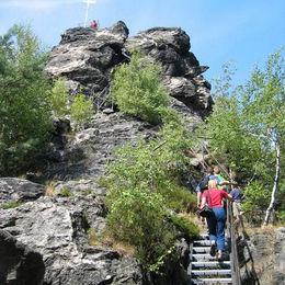Oberlausitzer Bergweg,  Scharfenstein bei Oybin