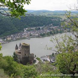 Rheinsteig, Burg Katz und St. Goar