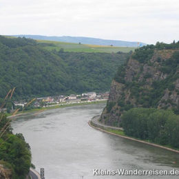 Rheinsteig, St. Goar und  Loreley Felsen