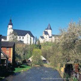 Erzgebirge Schloss und Kirche in Schwarzenberg