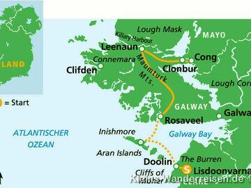 Irland Wanderweg Connemara und Burren