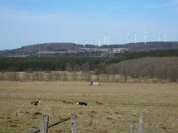 Die Höhen des Westerwald erwandern - ungeführte Wanderreise - windpark