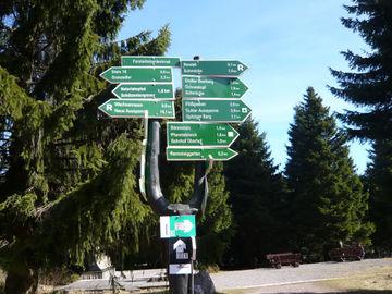 Rennsteig - wandern ohne Gepäck auf einem der beliebtesten Wanderwege in Deutschland - L1020036