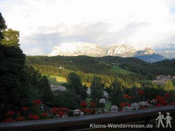Südtirol  - Blick zum Schlern vom Hotel