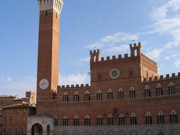 Toskana Siena Campo mit Campanile