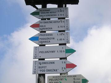 Wanderreise in Tschechien entlang des Riesengebirges ohne Gepäck - wegweiser-mittagstein