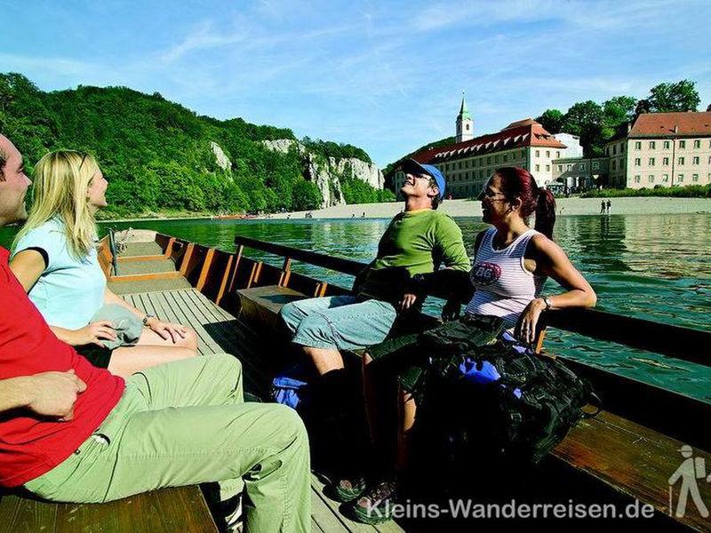 Altmühltal Panoramaweg, Kahn zum Kloster Weltenburg