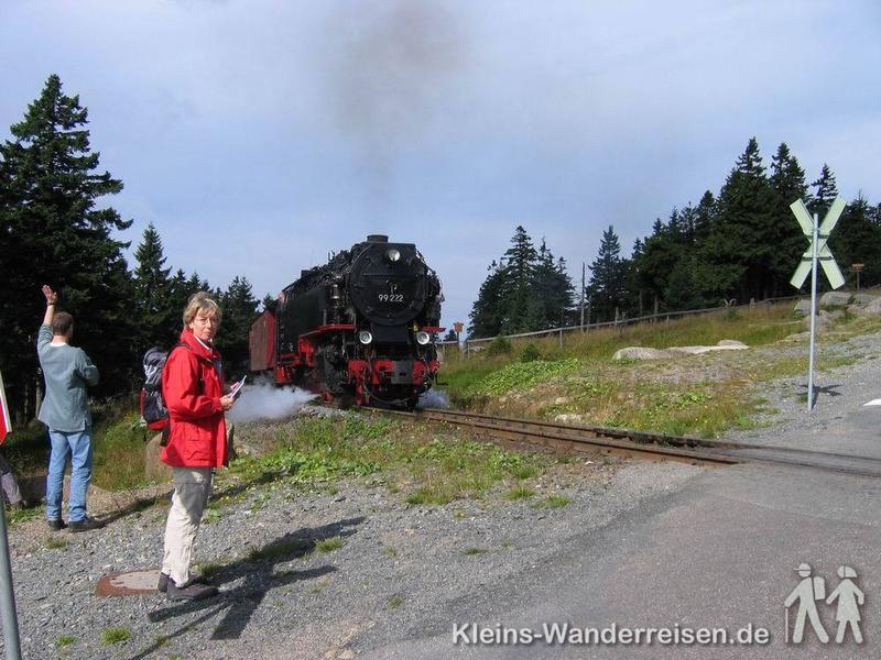 Harzer-Hexen-Stieg, Dampfeisenbahn zum Brocken
