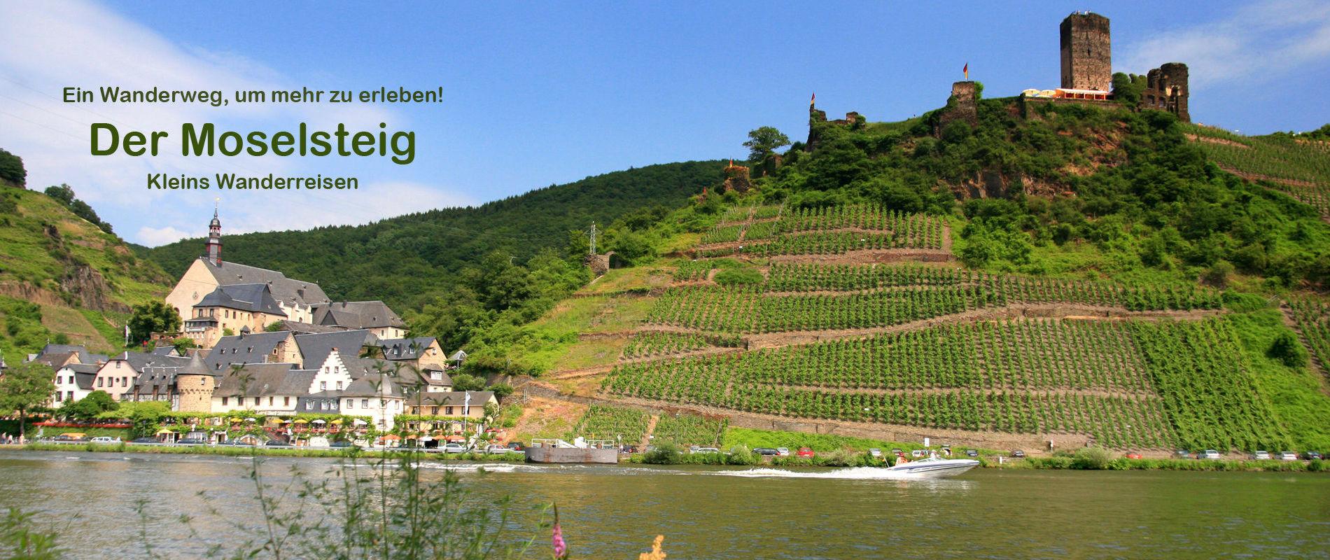 Moselsteig Beilstein mit Burg Metternich