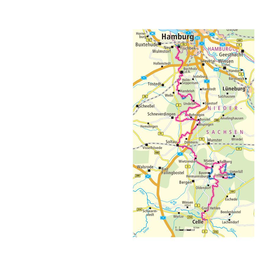 Karte Lüneburger Heide Und Umgebung.Heidschnuckenweg Wandern Lüneburger Heide Wanderreise Buchen