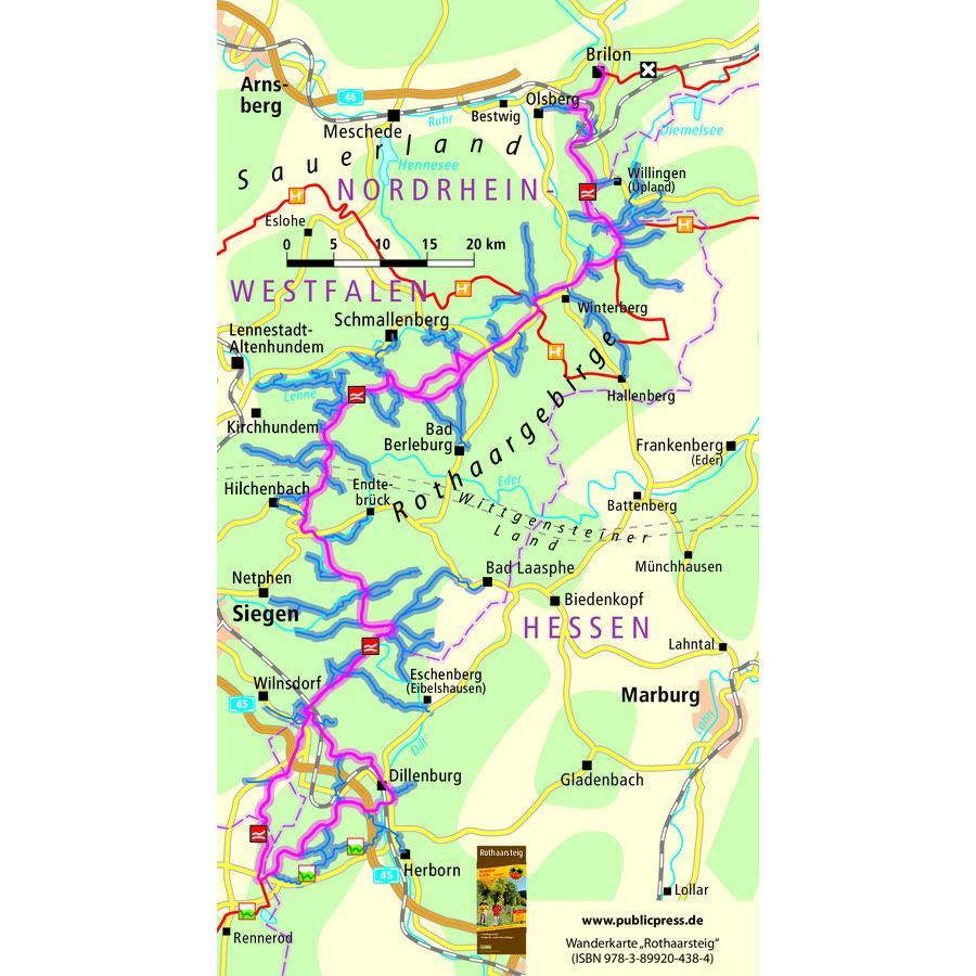 Rothaarsteig Karte.Rothaarsteig Wanderreise Rothaarsteig Wandern Rothaargebirge